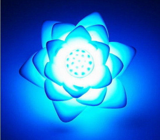 [20pcs/lot] Novelty Items Romantic Multi-Color Changing Lotus LED night Light lamp for c ...