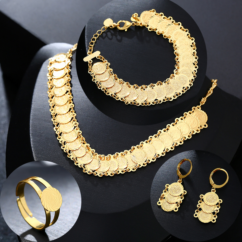 Arab Coin Jewelry Sets Gold...