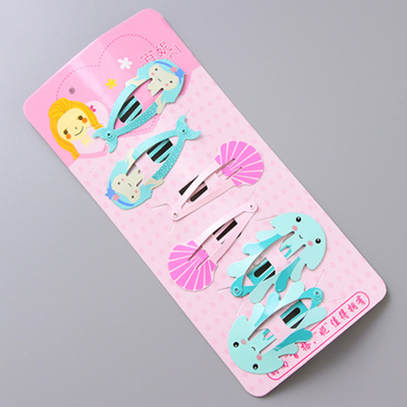New 1Set=6PCS Girls Cartoon Cute Fruits Animals Hairpins Hair Clips Kids Headband Hair Holder Ornament Children Hair Accessories 2 pcs 2017 new korean striped bowknot cute baby clip girls hairpins cartoon kitten hair clips kids children accessories