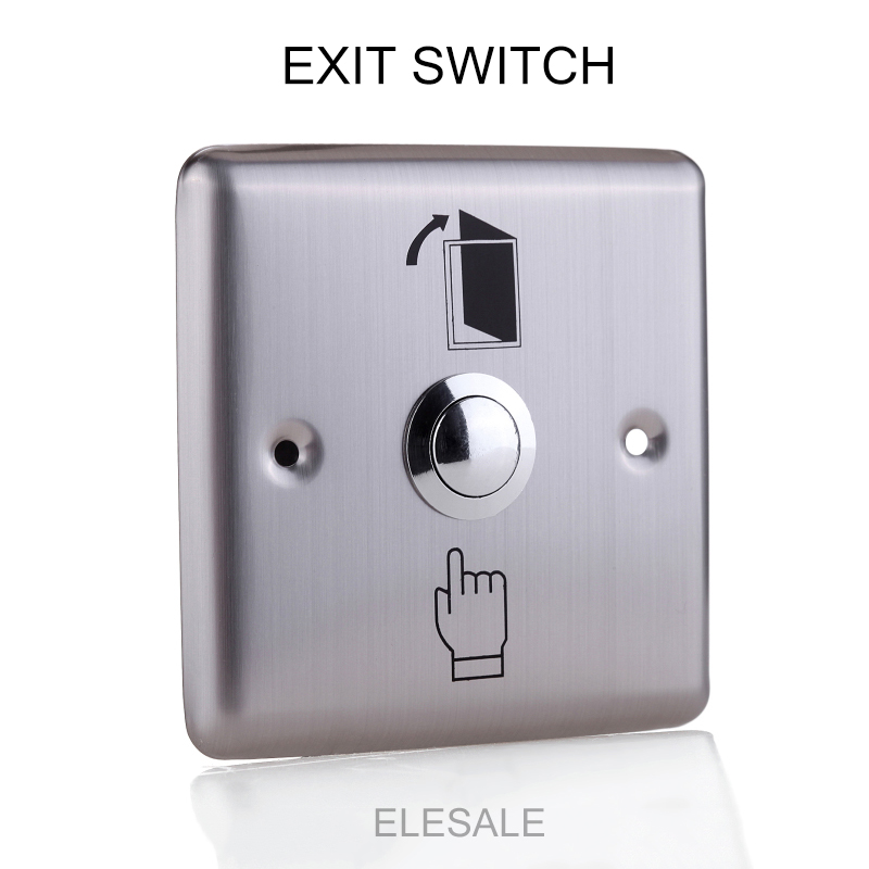 86*86cm Stainless Steel Rectangle Exit Push Release Button Switch For Electric magnetic Lock Door Access Control new 86x86mm exit button switch door opener stainless steel backlight led for electric lock access control home office