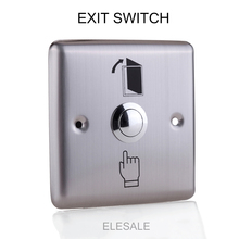 86*86cm Stainless Steel Rectangle Exit Push Release Button Switch For Electric magnetic Lock Door Access Control