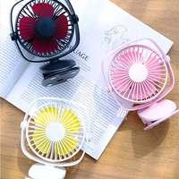 Mini Super Mute PC USB Air Conditioner Air Cooler 2000mAh Desktop Clip Fan 360 Rotation Cooling Fan Handheld Electric Fans Summer