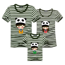 Fashion Fun 2016 Striped T-shirt Men Harajuku Sport T Shirt Brand Clothing Cotton Tshirt Polera Matching Mother Daughter Clothes