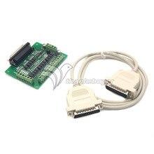 CNC 6 Ejes Adaptador de Interfaz Del Tablero Del Desbloqueo MACH3 EMC2 KCAM4 + DB25 DB25 Cable CNC
