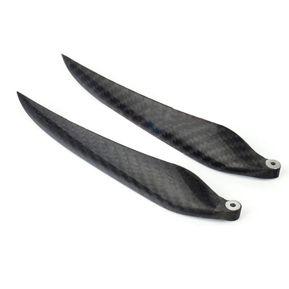 1 Pair 16 8 16 13 inch Two Blades Fold Carbon Fiber Propeller for RC Model