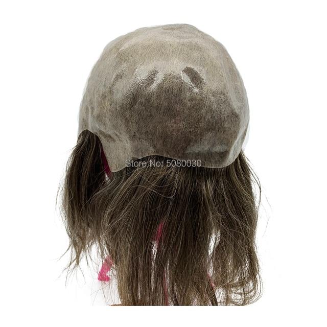 Vrouwen haar topper volledige cap pruik Persoonlijkheid maatwerk huid basis haar pruik mannen