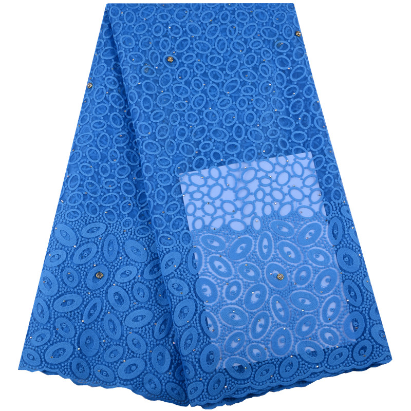 Nigerian Lace Fabrics For Wedding 2018 African Lace Fabric High Quality French Lace Sky Blue Woman