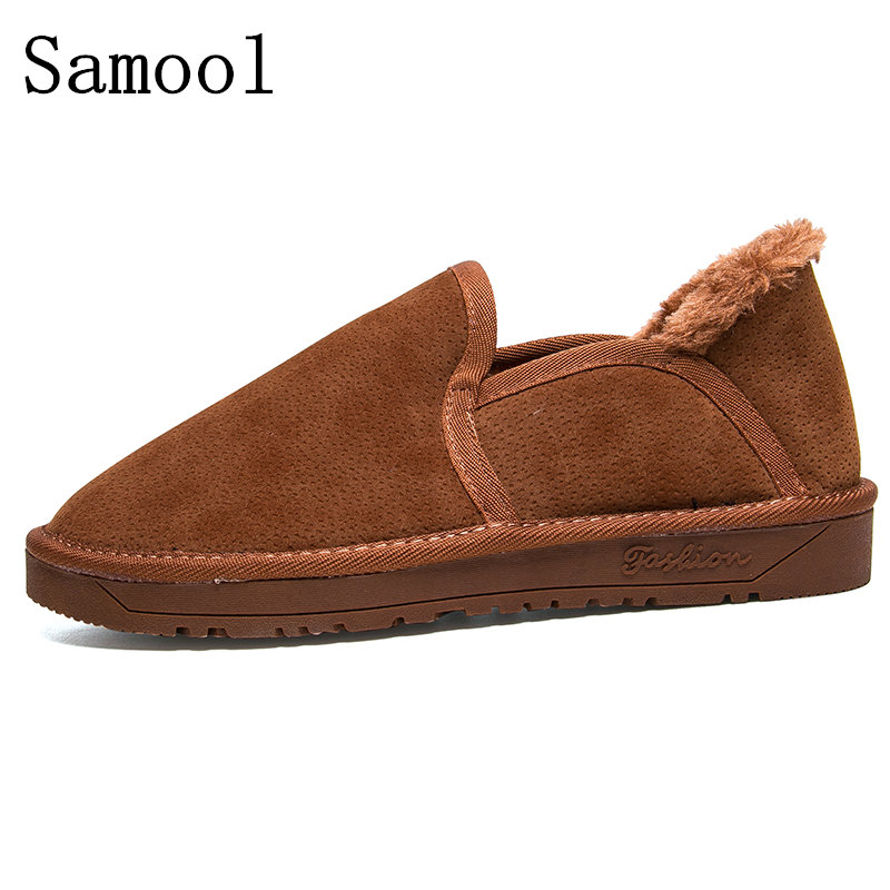 2017 New Winter Shoes Keep Warm With Fur Men Loafers Slip On Fashion Drivers Loafer Suede Leather Moccasins Plush Men Shoes WY5 cbjsho british style summer men loafers 2017 new casual shoes slip on fashion drivers loafer genuine leather moccasins