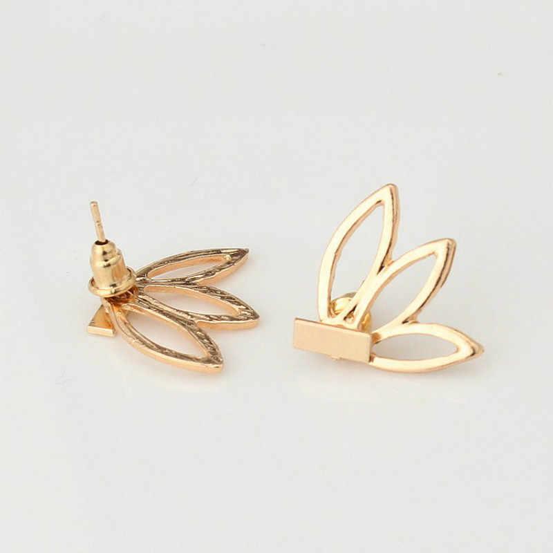 2018 nuevos accesorios de temperamento Simple media luna oro plata pendientes mujeres joyería al por mayor