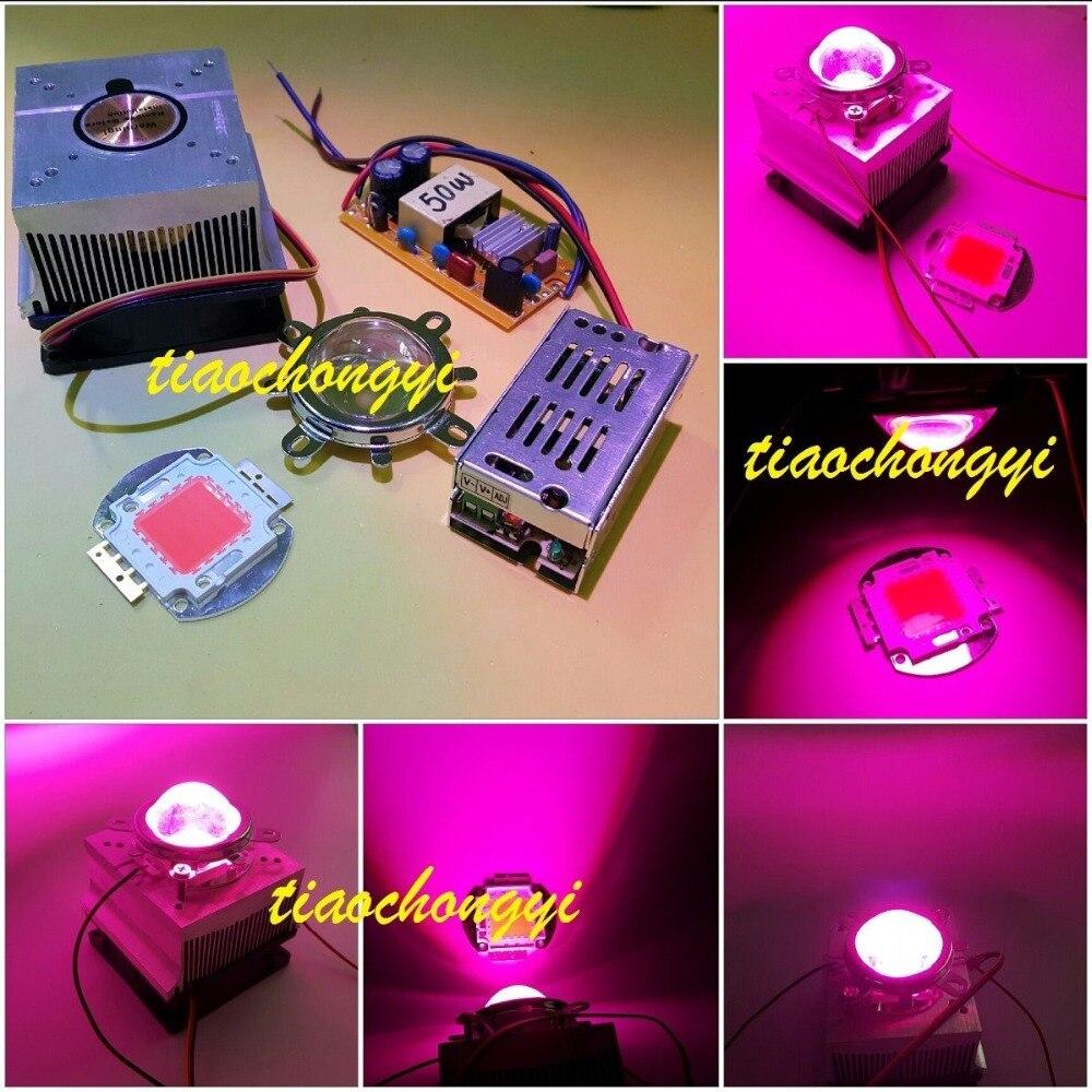 <font><b>50W</b></font> DIY <font><b>led</b></font> grow light 380-840nm kit,chip,driver,heatsink,cooling fan ,<font><b>led</b></font> lens