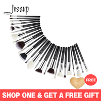 Jessup 25pcs makeup brushes Black/Silver Synthetic Natural Hair maquiagem profissional completa Eyeshadow Foundation EyebrowT175