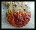 Новый Дизайн Природного Камня Резные Лев Multi-Color Пикассо Джаспер Ожерелье Кулон, 50*8 мм 29.9 г кулон животных резьбой