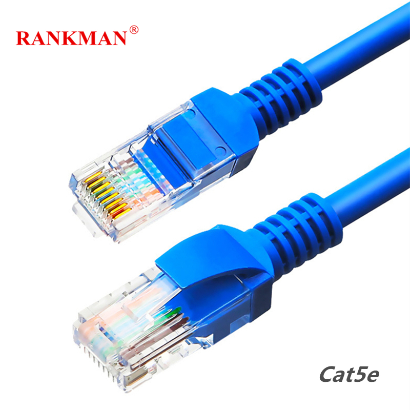 Rankman Cat5e UTP Network Cable Lan Cable RJ45 Ethernet Patch Cord Internet Cable For Router PC
