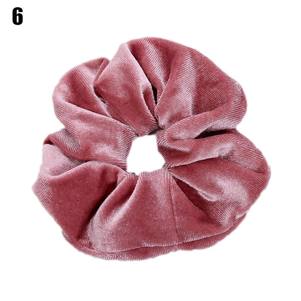 64 kolory aksamitne Scrunchie miękkie elastyczne gumki do włosów dziewczyny rozciągliwy gumka do włosów kucyk Holder kobiety akcesoria do włosów