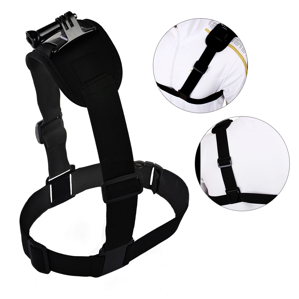 Camera Chest Shoulder Strap Ourdoor Skiing Cycling Rowing Single Shoulder Camera Belt for GoPro Hero 2 3/3+/HD/4/Sj4000 GDeals