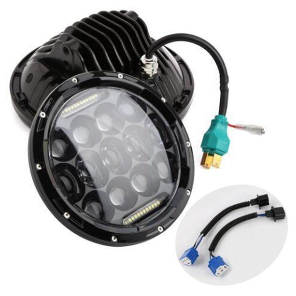 Newest75W LED Round Headlight Waterproof 7500LM 6000K Super Bright Head Lamp Work Light Daytime Running Light for Jeep Wrangler