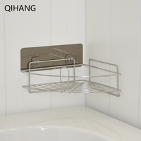 Stainless Steel Bathroom Accessories Corner Bracket Kitchen Shelf Shower Shampoo Soap Cosmetic Triangle Shelve High Quality