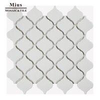 Lantern ceramic mosaic tile bathroom design