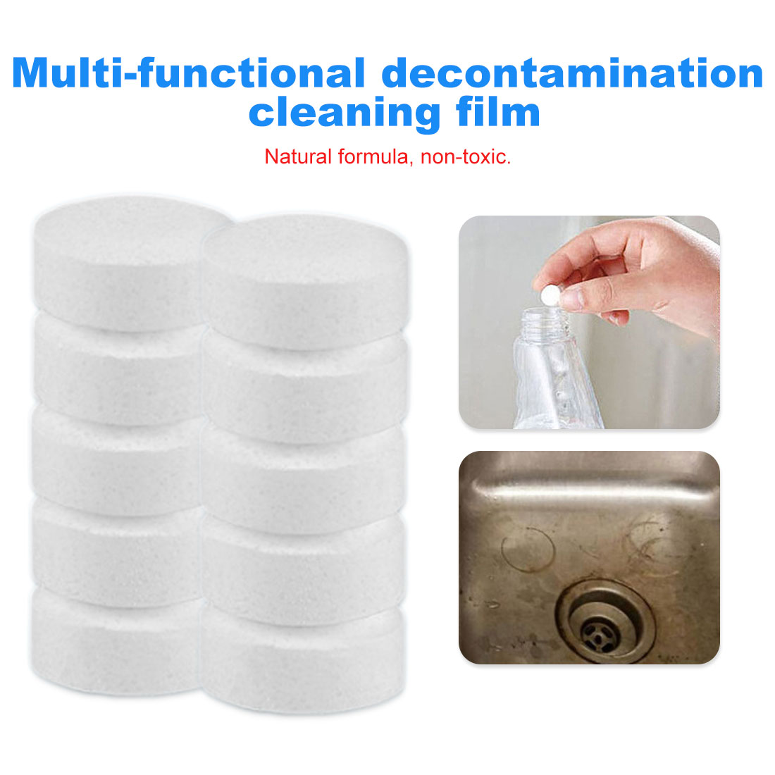 Household Cleaning Tools 10pcs/set Multifunctional Effervescent Spray Cleaner Car