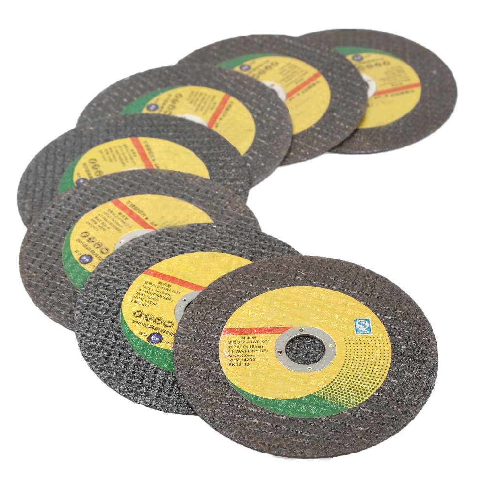 5Pcs 107mm Professional Ultra-thin Resin Grinding Wheel Cutting Disc Stainless Steel Cut Off Blade Grinding Wheels Abrasive Disc