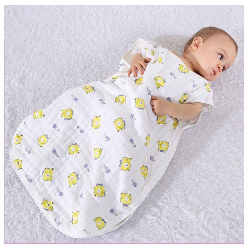 Pur Coton Nouveau-Né Bébé Sac de Couchage Air Conditionné Infantile Bébé Dormir Sac Kangourou Sac de Sommeil Garçons Filles Couverture