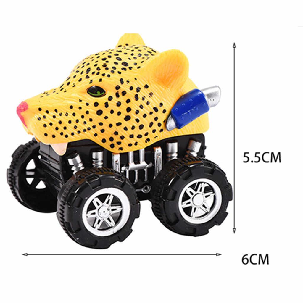 Mini Voertuig Dier Pull Back Auto met Grote Wiel Creatieve Cadeaus voor Kinderen 2019 Educatief Spel pull back model auto's
