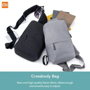Image 2 - Original xiaomi saco mochila estilingue peito saco estilingue à prova dwaterproof água urbano lazer sacos de ombro esporte mochila unisex