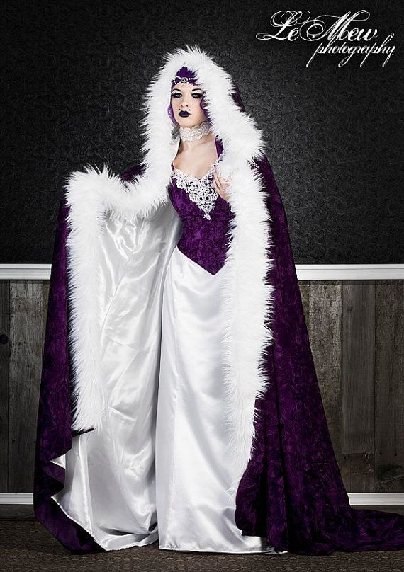 Ashley Gothic Medieval Gown and Fur Trimmed by RomanticThreads