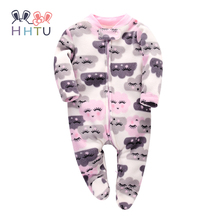 Newborn Infant Rompers Jumpsuit Cute Clothes Baby Boys Girls Fleece Baby Costumes Clothing for Autumn Winter