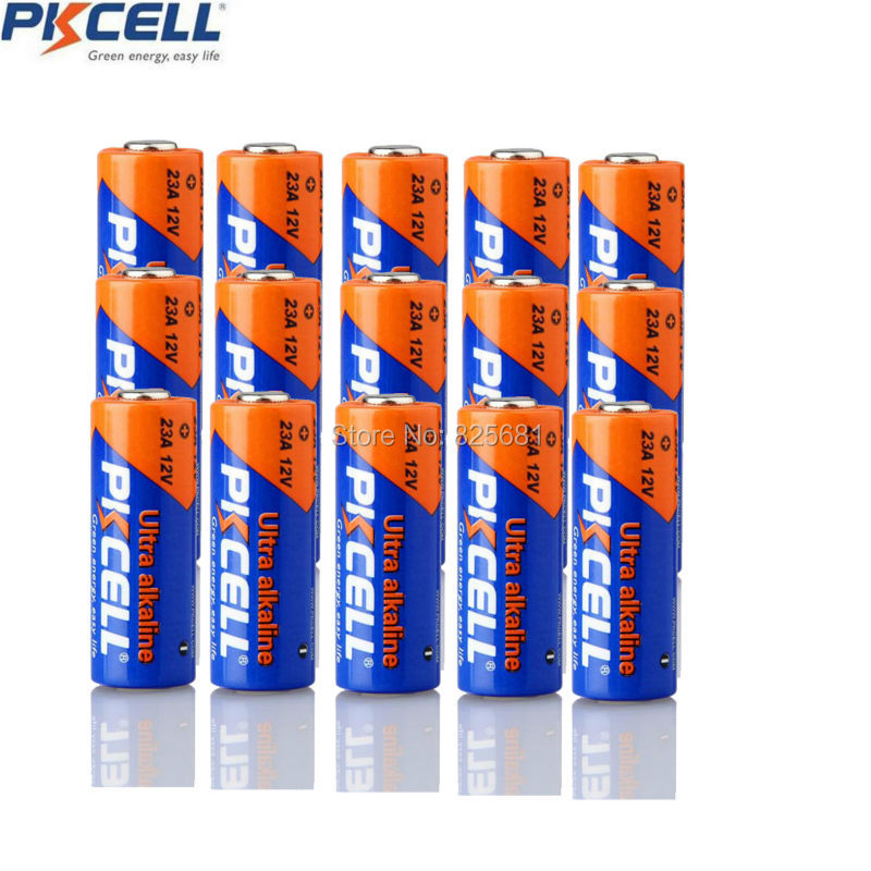 15PCS 23A 12V PKCELL Battery 105h Capacity Super Alkaline Dry Batteries For Doorbell Alarm Remote Control