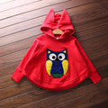 Kids Autumn Owl Embroidery Pattern Windbreaker Jackets for girl Jacket coat outwear children hoodies bat sleeve girls clothes