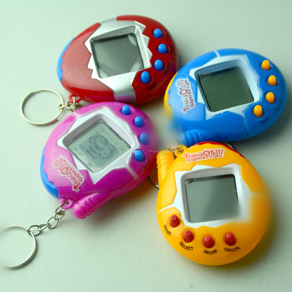 Electronic pet machine Electronic virtual pets Puzzle Miniature game machine Novelty childrens toys  6 * 5 * 2cm plastic