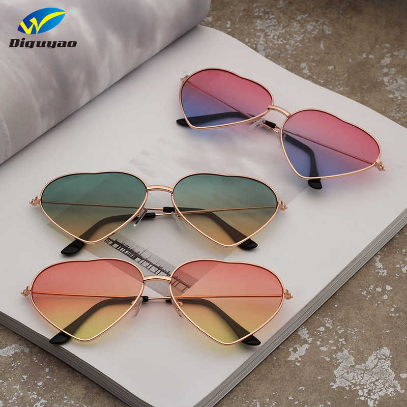cfeee1adec5b Detail Feedback Questions about DIGUYAO Women Metal Multicolour Metal Frame  Sunglasses Brand Designer Coating Fashion Sun Glasses Heart Shaped  Sunglasses on ...