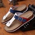 Мужской корк тапочки женщины сандалии летом пляж тапочки флип скольжению сандалии женщины вьетнамки 04