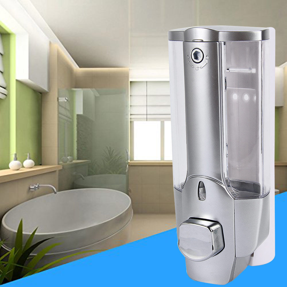 350ml Wall Mount Soap Hand Sanitizer Bathroom Shower Shampoo Dispenser Lotion Pump Anti-corrosion Home Washer Box for Home Hotel