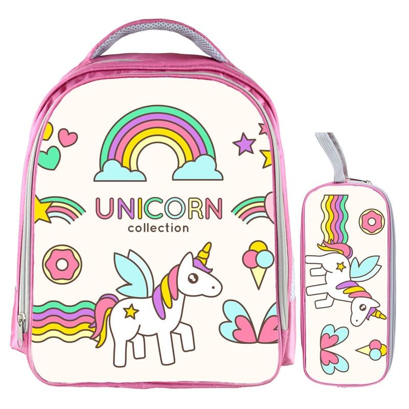 Hot Sale 13 Inch Unicorn Backpack Rainbow Horse Backpack Kids School