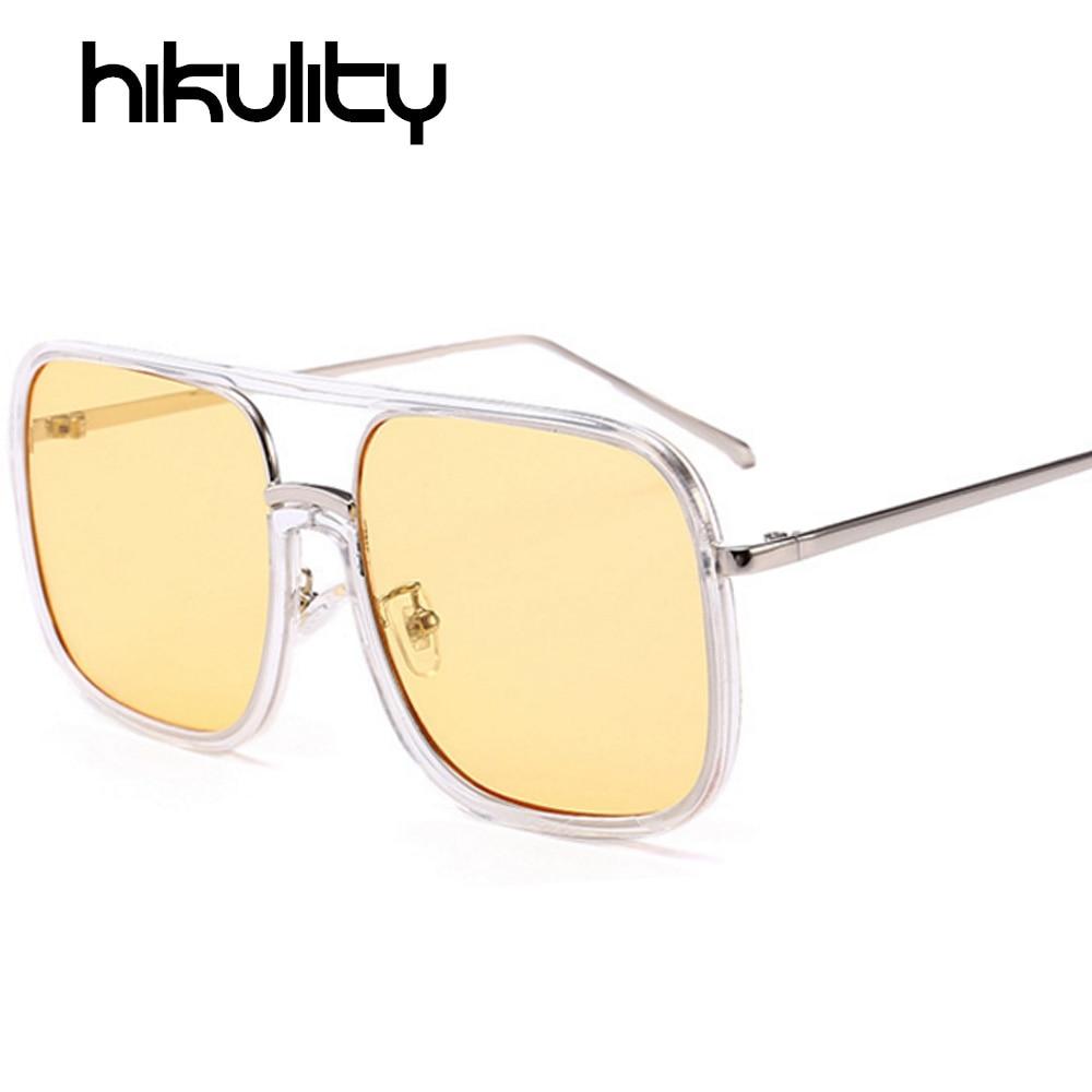 aliexpresscom buy square clear glasses women men big frame transparent eyeglasses men brand designer sunglasses yellow pink eyewear oculos do sol from - Yellow Eyeglass Frames