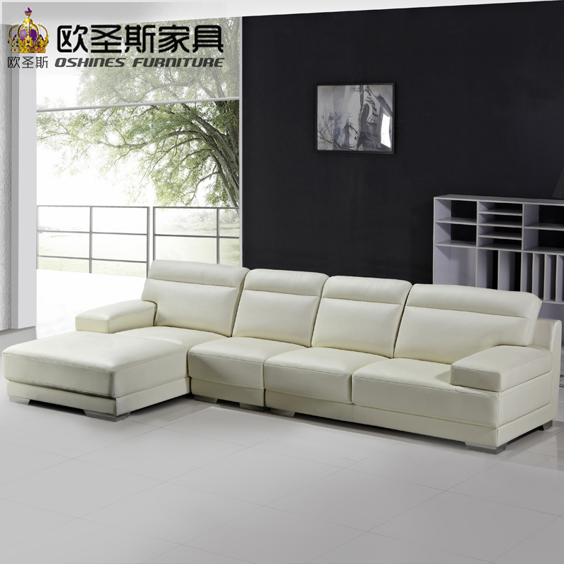 Living Room Furniture Latest Sofa Set New Designs 2015 Modern L Shaped Hall  Leather Sofa Set