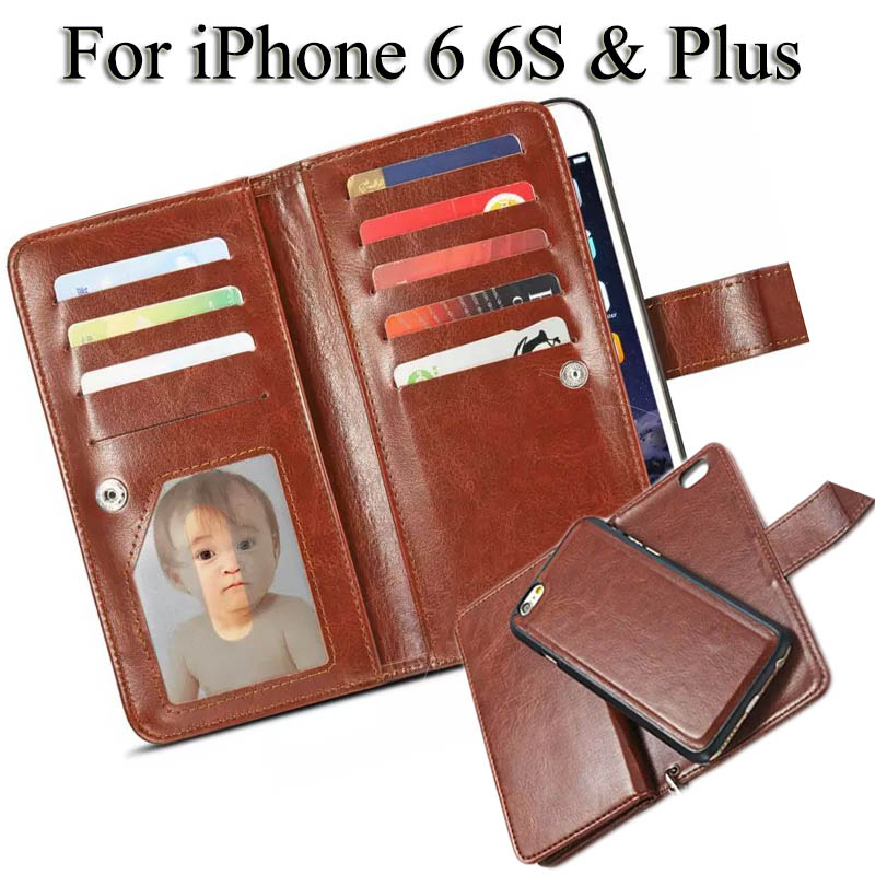 Wallet Case for iPhone 6 S Leather Case Card Holder for iPhone 6 S Plus Flip
