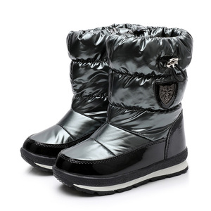Image 3 - ULKNN Winter Boots For Girls Boys  Kids Boots 2018 New Waterproof Botas Thickening Snow Gold Dark Green 26 27 28 29 30 Size