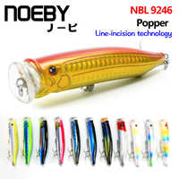 NOEBY 100mm 120m topwater lure Popper Sea Fishing Lure Top Water Hard Bait VMC/SUGIURA Treble Hook Strong Temptation Lures