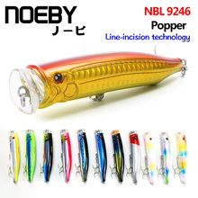 NOEBY 100mm 120m topwater lure Popper Sea Fishing Lure Top Water Hard Bait VMC/SUGIURA Treble Hook Strong Temptation Lures noeby fishing lures nbl9069 popper lure 140mm 40g classic sea fishing wave climb hard bait vmc fishhook tackle pesca top water