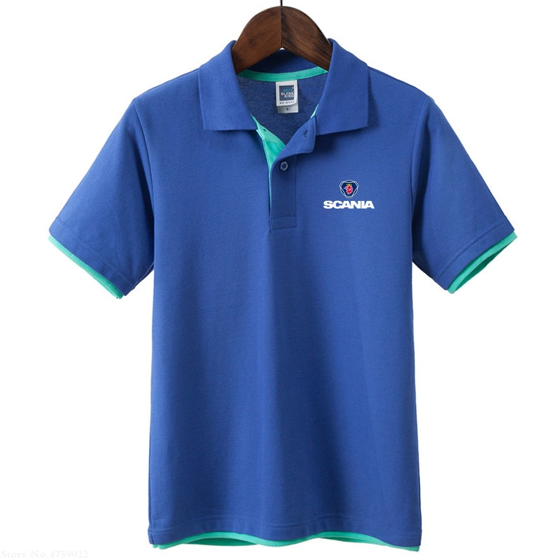 New 4 colors Mens male summer Scania   polo   shirt Summer male female short sleeve Tops regular clothes