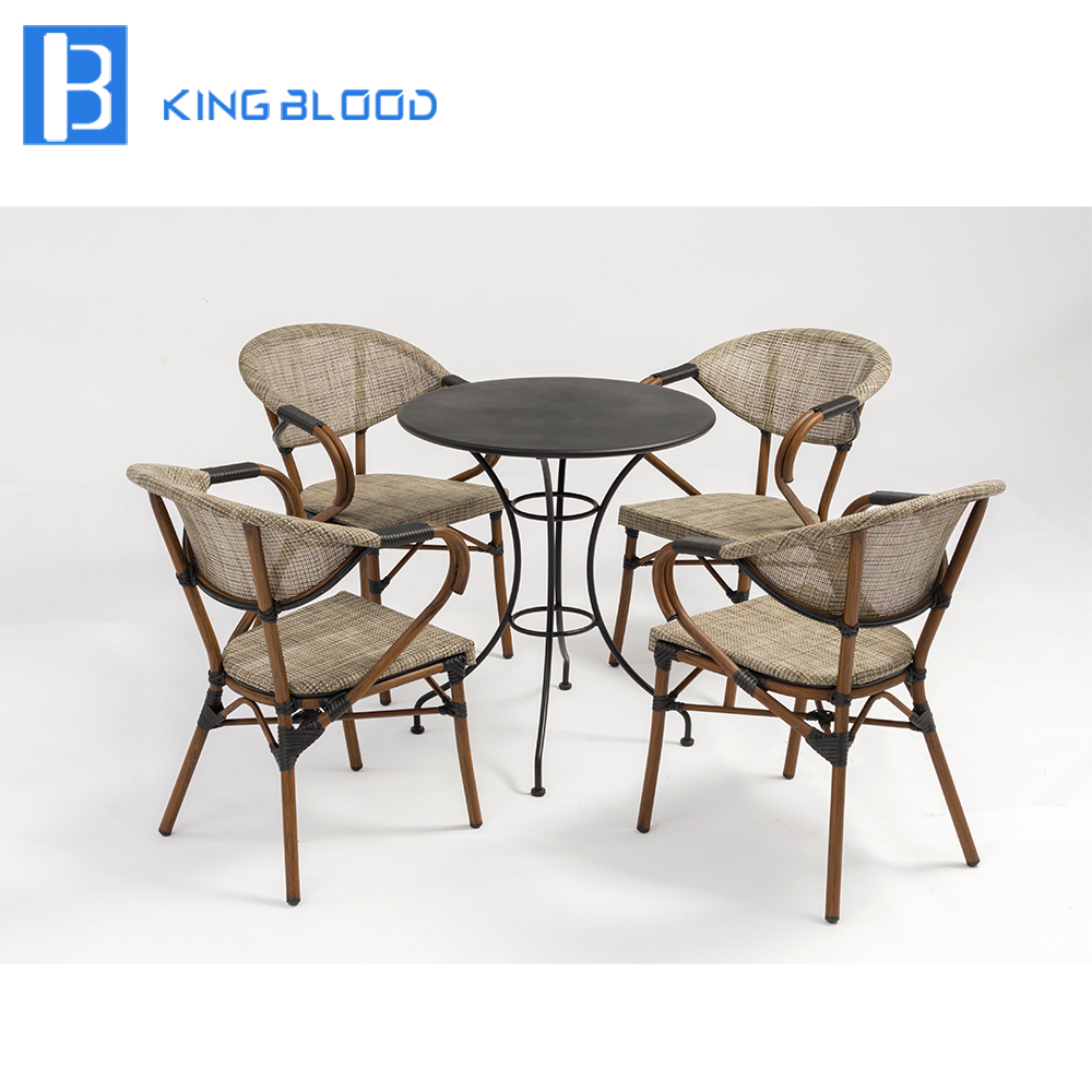 High quality Metal table for coffee shop with outdoor chair