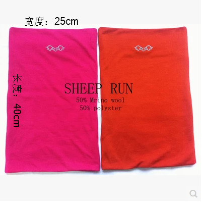 Free shipping Superfine Merino Wool Women man Neck Ring Gaiter Scarf Winter Skiing Hunting mountain girl  biking outdoor warmer