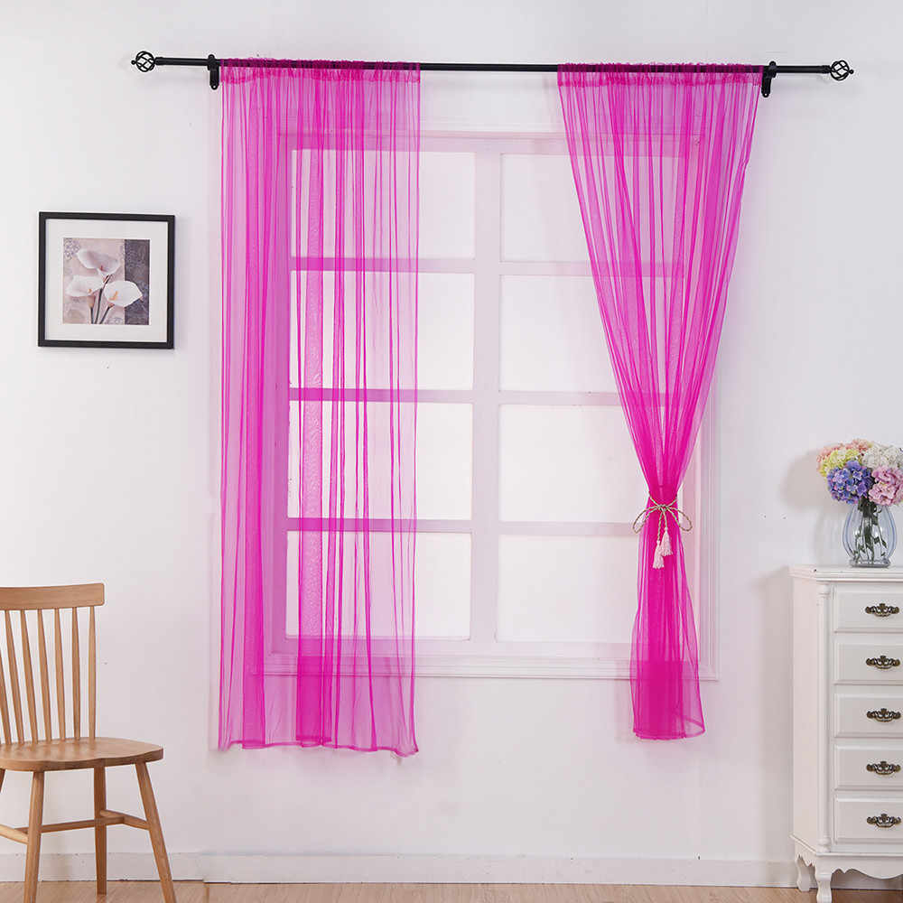 Ouneed Starry Sky Sheer Curtain Tulle Window Treatment Voile Kitchen Living Covering Valance Curtains for living room  G626