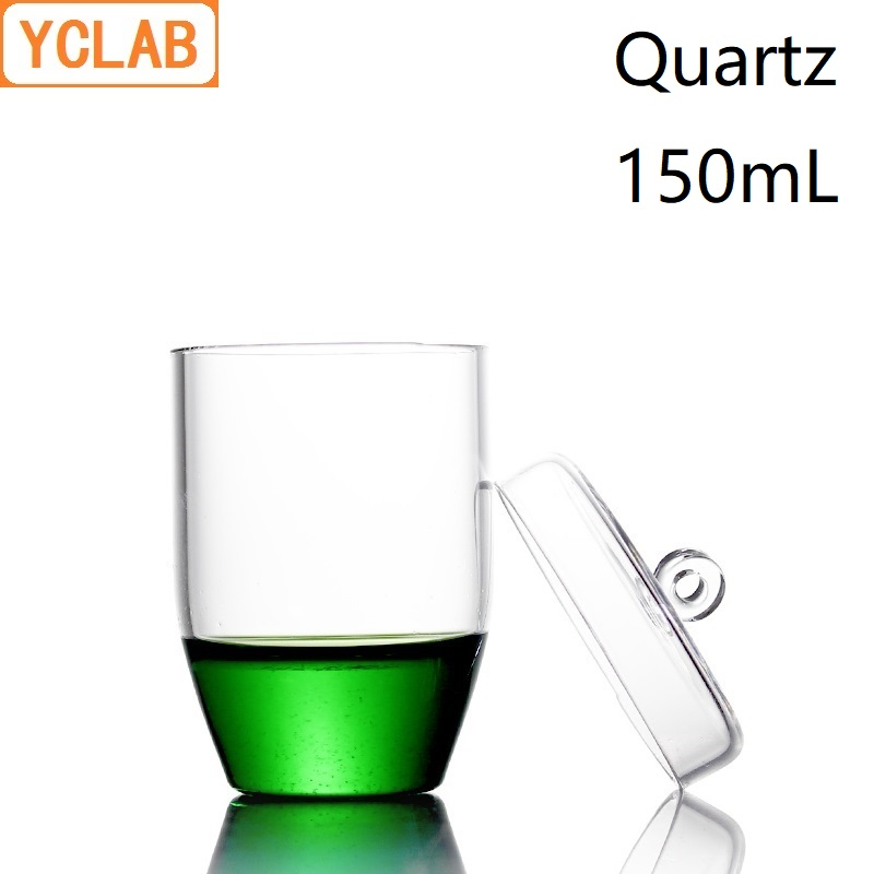 YCLAB 150mL Quartz Crucible with Lid Highly Transparent High Temperature Resistance Laboratory Chemistry Equipment цена