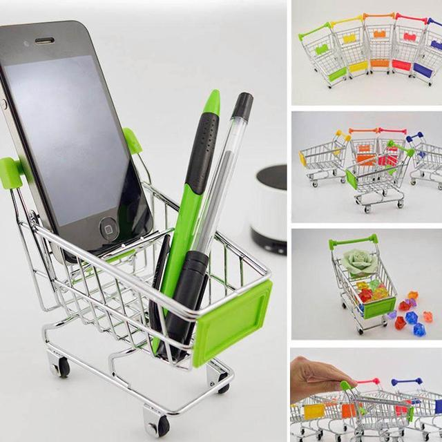 9921beff0321 Hot Mini Stainless Steel Handcart Supermarket Shopping Utility Cart Mode  Storage Toy Phone Food Holder Cute Gift for Kids-in Groceries Toys from  Toys ...