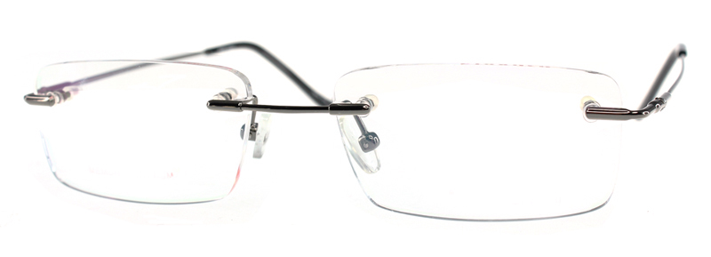 2016 new man rimless flexible memory optical frame clear lenses eyeglasses light and cheap eyewear dt054