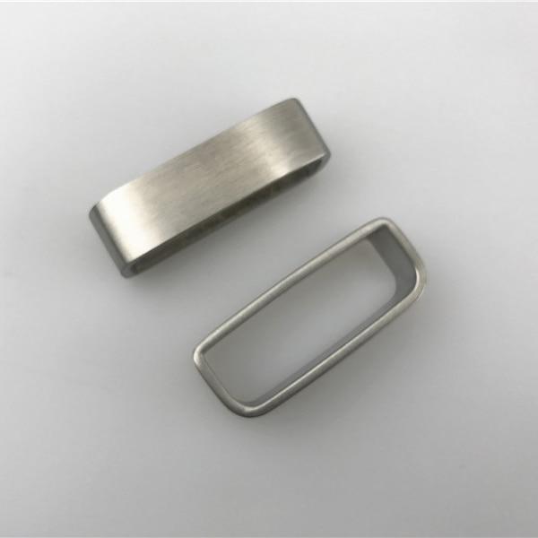 loop, escovado metal sólido aço inoxidável cinta